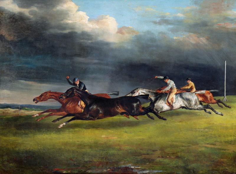 SL - Avec le temps… d'après Le Derby à Epsom par Theodore Gericault (1791-1824)