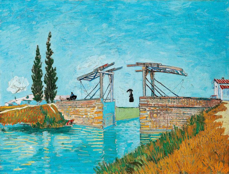 SL - Avec le temps… d'après Le pont Langlois à Arles Langlois par Vincent van Gogh (1853-1890)