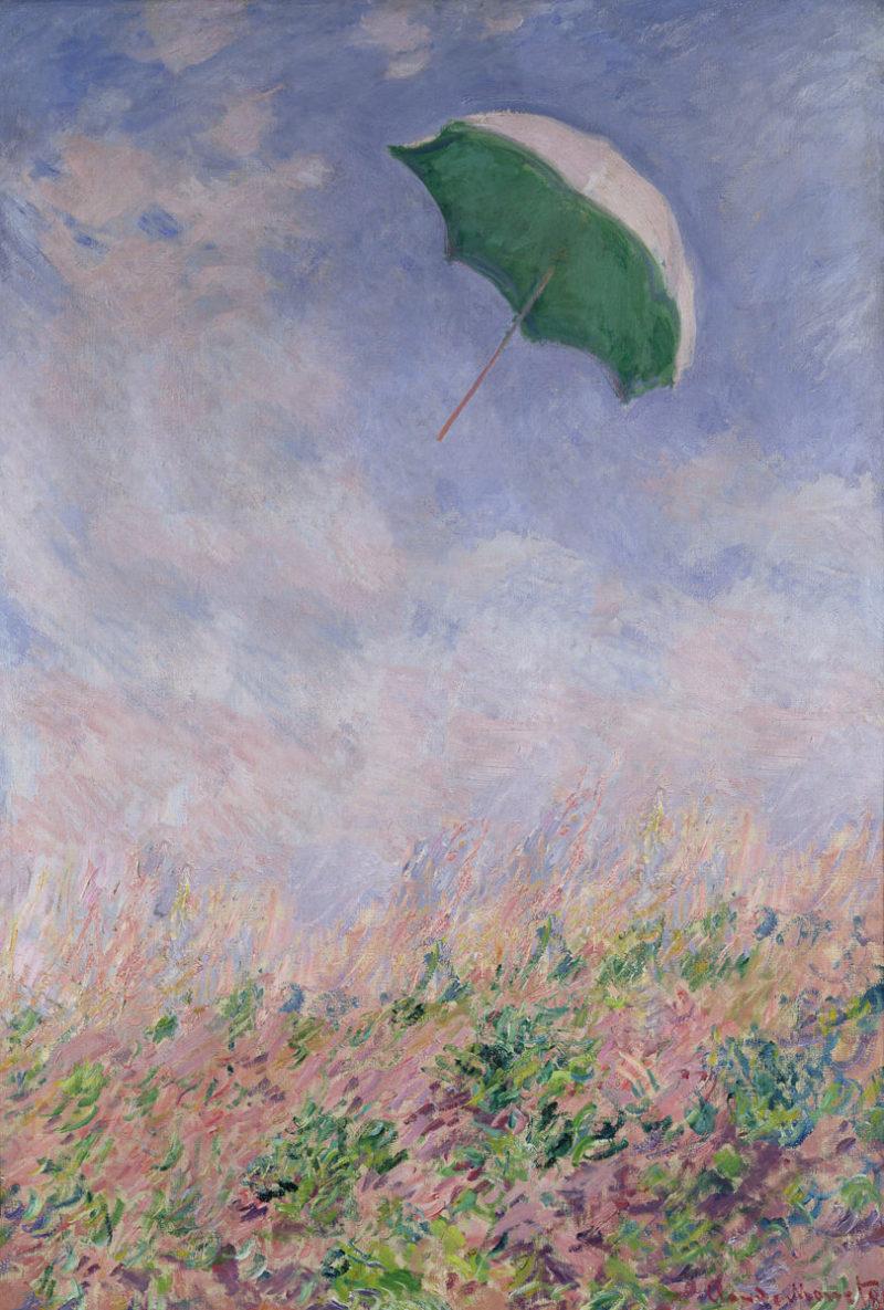 SL - Avec le temps… d'après Femme au Parasol tournée sur la droite par Claude Monet (1840-1926)