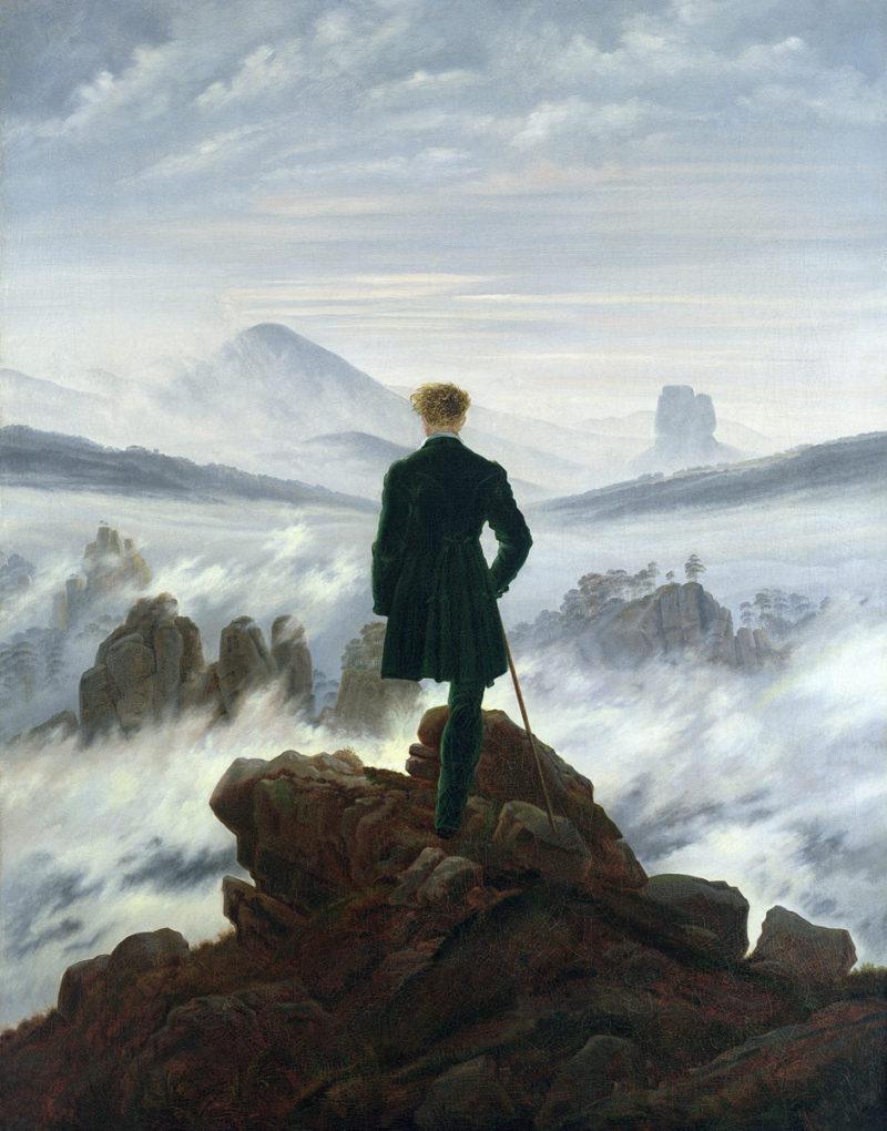 SL - Avec le temps… d'après Le Voyageur au-dessus de la Mer de Brouillard par Caspar David Friedrich (1774-1840)